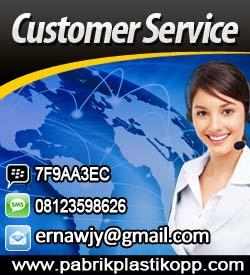 customer service pabrik plastik opp